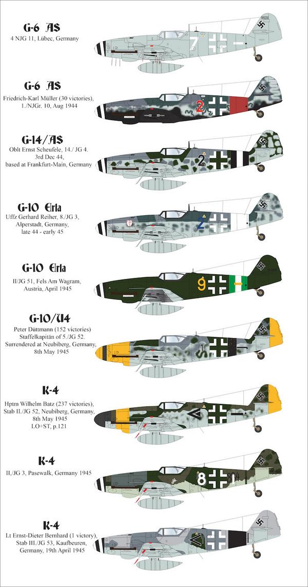 Late war Messerschmitt Bf-109's #AIMS48024