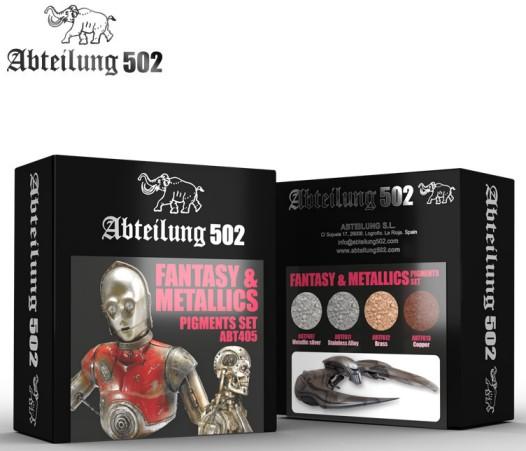 Fantasy & Metallics Pigment Set (4 Colors) 20ml Bottles #ABT405