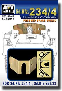 Brass Shield For Sd. Kfz. 234/4 #AFVAG35015