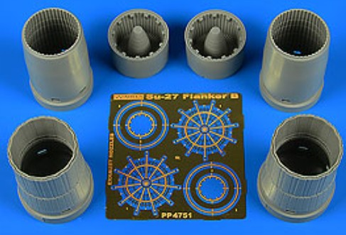 Su-27 Flanker B Exhaust Nozzles For HBO - Pre-Order Item #AHM4751
