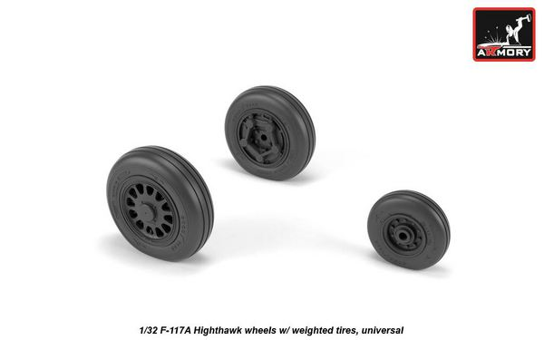 Lockheed F-117A wheels (designed to be used with Italeri, Revell and Testors kits) #ARAW32305