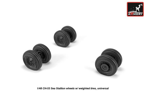 Sikorsky CH-53 Sea Stallion wheels with weighted tires universal #ARAW48315