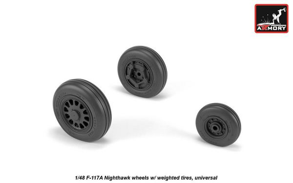 Lockheed F-117A wheels (designed to be used with Academy and Italerikits) #ARAW48322