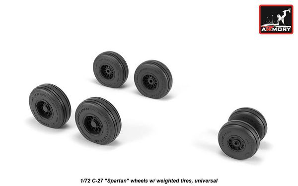 Alenia C-27J Spartan wheels (designed to be used with Italeri kits)[Aeritalia G.222] #ARAW72505