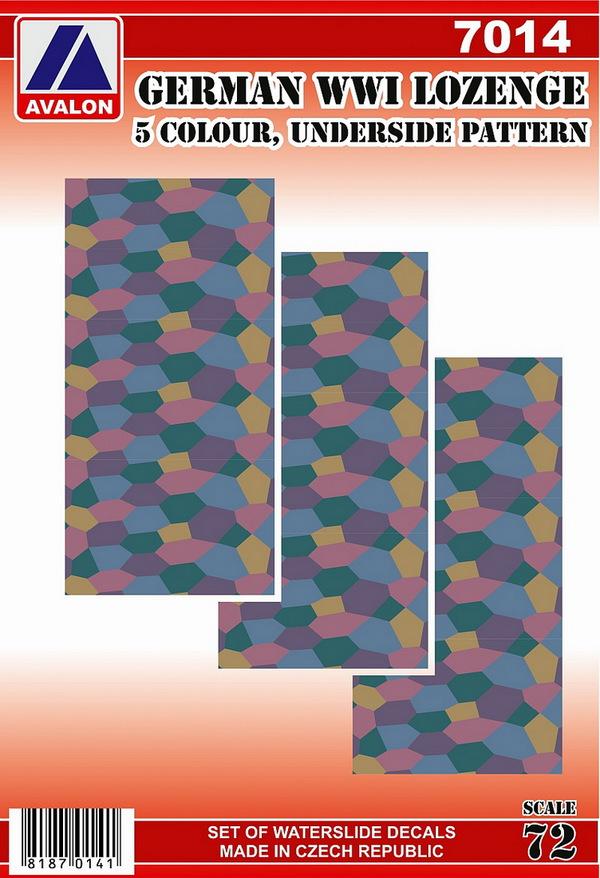 German lozenge - 5 colour, underside pattern (1 sheets) #AVD7014