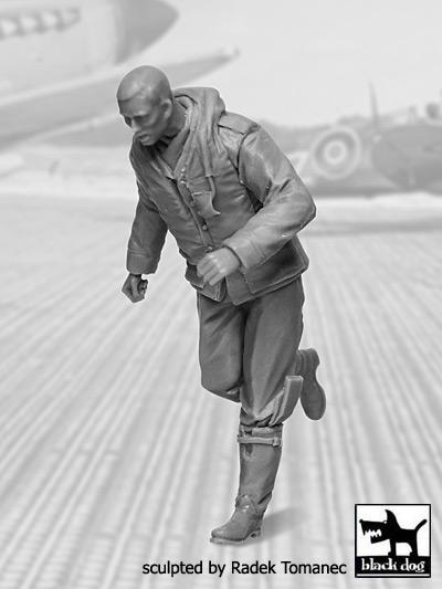 RAF Fighter Pilot 1940-1945 scrambling N-3 #BDF32043