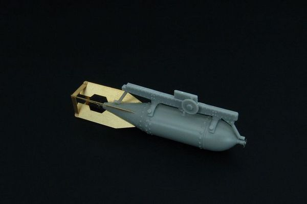 Japanese 250kg bomb with rack resin set of japanese bomb with rack #BRL48103