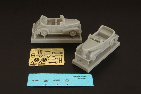 German Staff Car Cabriolets x 2 with etched parts and decals #BRS144039
