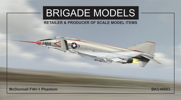 McDonnell F-4H Phantom Prototype. (designed to be used with Academy McDonnell F-4B Phantom AC12232 kits) - Pre-Order Item #BKC48003
