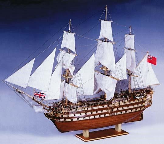 HMS Victory 3-Masted England XVIII Sailing Ship w/plank-on frame (Advanced) #CNS80833
