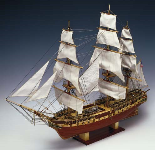 USS Constitution 3-Masted 1797 Frigate Ship w/plank-on frame (Advanced) #CNS80836