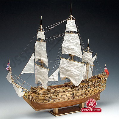 HMS Prince 3-Masted 100-Gun 1670 Sailing Ship w/plank-on frame (Advanced) #CNS80839
