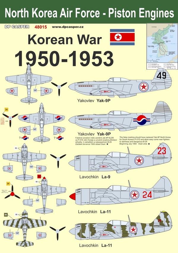 North Korean Air Force - Piston engine aircraft 1950 - 1953 #DPC48015