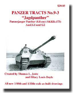 Panzer Tracts No.9-3 Jagdpanther PzJaeger Panther Ausf G1/2 #PZT093