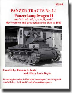 Panzer Tracts No.2-1 Pz.Kpfw. II Ausf A/1 to C #PZT021
