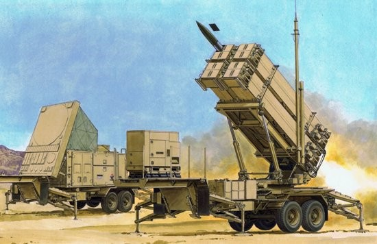 MIM104F Patriot Surface-to-Air Missile (SAM) System PAC3 M901 Launching Station #DML3563
