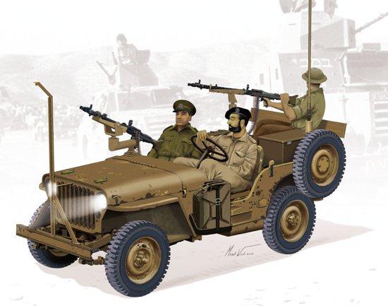IDF 1/4-Ton 4x4 Truck w/MG34 Machine Guns #DML3609