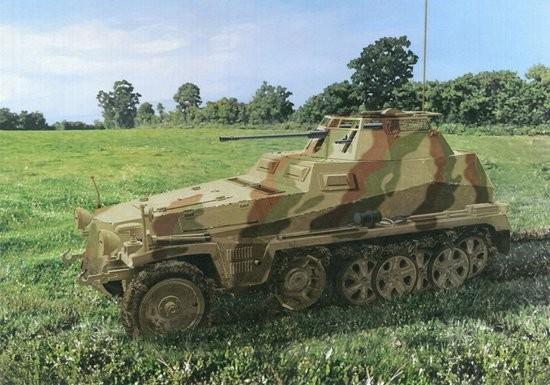 Sd.Kfz.250/9 Ausf A Halftrack w/2cm leSPW Gun #DML6882