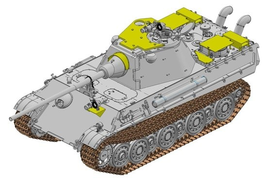 Panther SdKfz 171 Ausf F Tank w/Night Sight & Air Defense Armor - Pre-Order Item #DML6917