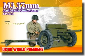 M3 37mm Anti-Tank Gun w/Gunner ETO 1944, Tom Hackett (Private) - 9th Anniversary - NEO 3 BODY- Net Pricing #DRF70680