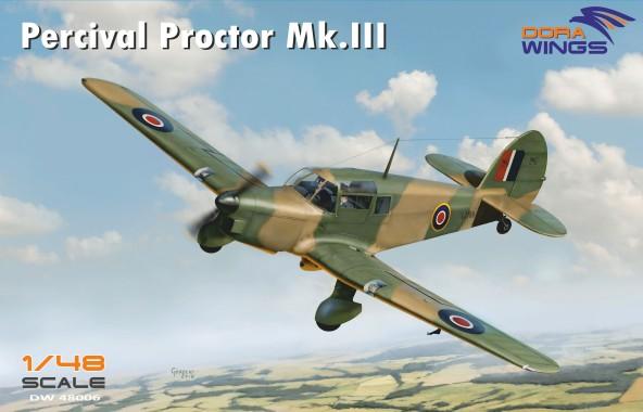 Percival Proctor Mk III British Radio Trainer Aircraft (New Tool) #DWN48006