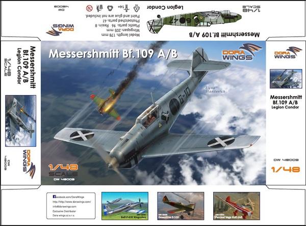 Messershmitt Bf.109A/B  Legion Condor #DWN48009