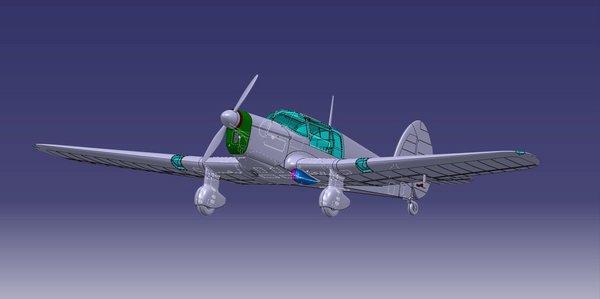 Percival Vega Gull Military Service Four-Seater Aircraft #DWN72004