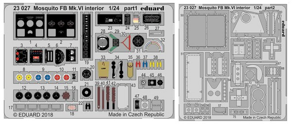 Aircraft- Mosquito FB Mk VI Interior for ARX (Painted) #EDU23027