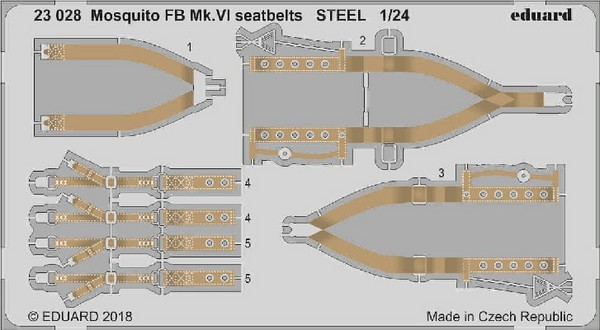 Aircraft- Seatbelts Mosquito FB Mk VI Steel for ARX (Painted) #EDU23028