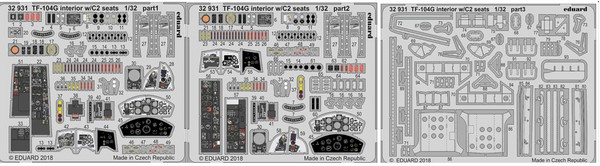 Aircraft- TF-104G Interior w/C2 Seats for ITA (Painted) #EDU32931