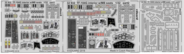 Aircraft- TF-104G Interior w/MB Seats for ITA (Painted) #EDU32932