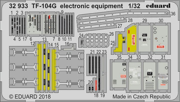 Aircraft- TF-104G Electronic Equipment for ITA (Painted) #EDU32933