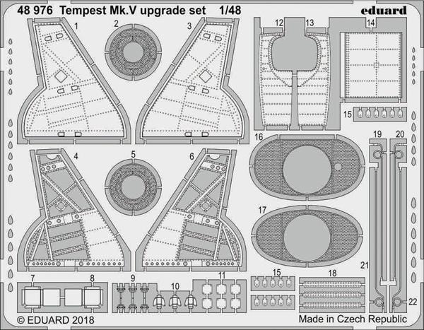 Aircraft- Tempest Mk V Upgrade Set for EDU - Pre-Order Item #EDU48976