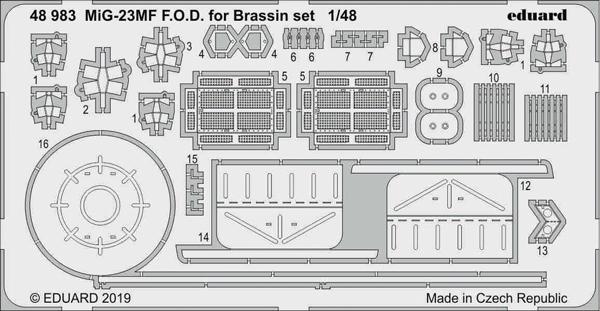 Aircraft- MiG-23MF FOD for EDU/Brassin Set #EDU48983