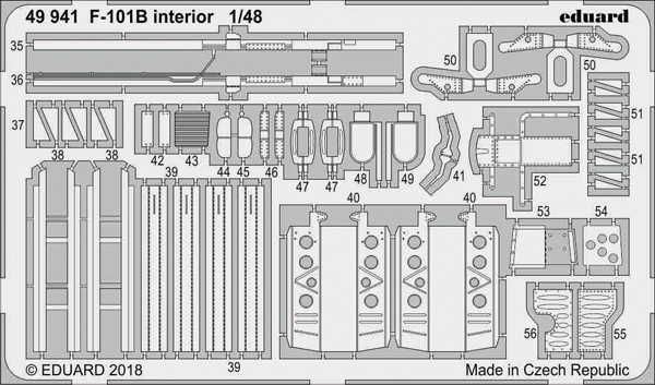 Aircraft- F-101B Interior for KTY (Painted) #EDU49941