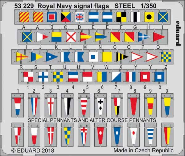 Ship- Royal Navy Signal Flags Steel (Painted) #EDU53229