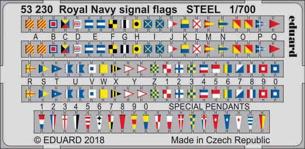 Ship- Royal Navy Signal Flags Steel (Painted) #EDU53230