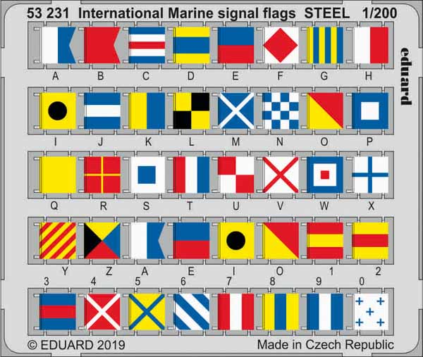 Ship- International Marine Signal Flags Steel (Painted) #EDU53231