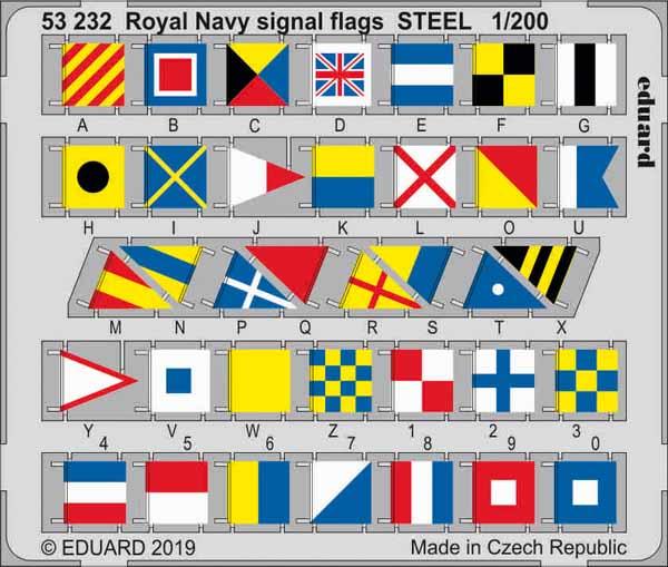 Ship- Royal Navy Signal Flags Steel (Painted) #EDU53232