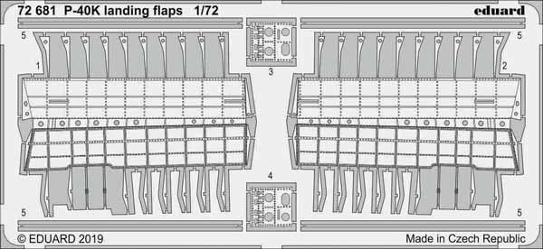 Aircraft- P-40K Landing Flaps for SHY #EDU72681