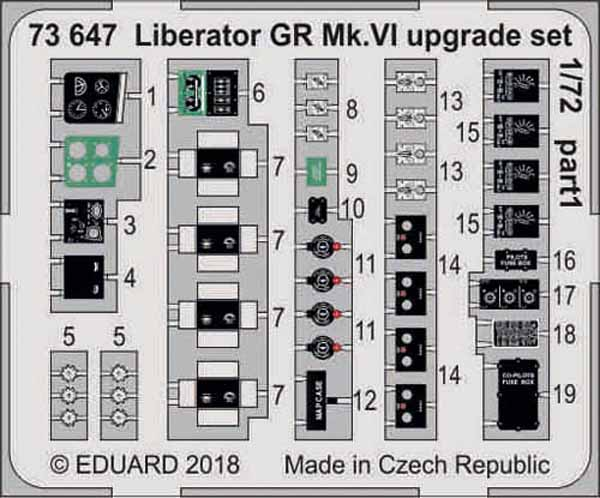 Aircraft- Liberator GR Mk VI Upgrade Set for EDU (Painted) #EDU73647