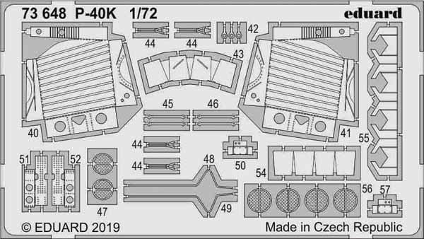 Aircraft- P-40K for SHY (Painted) #EDU73648