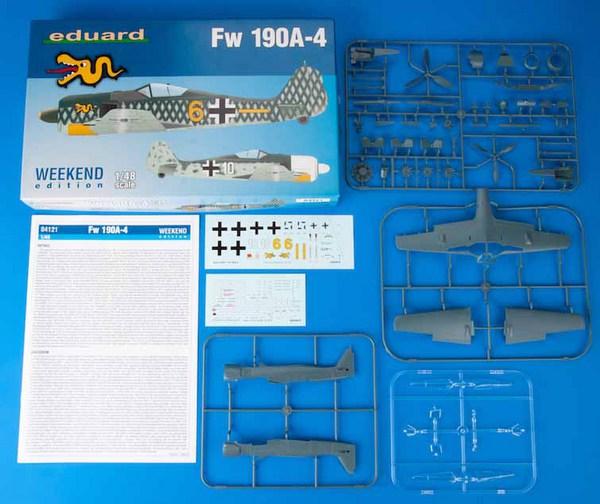 Fw.190A-4 Aircraft (Wkd Edition Plastic Kit) #EDU84121