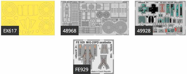 Mikoyan MiG-25PD (designed to be used with ICM kits) This BiG-Ed set includes all these Eduard sets.... #EDUBIG49206