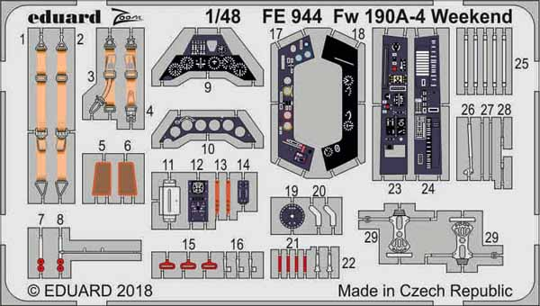 Focke-Wulf Fw.190A-4 Weekend (designed to be used with Eduard kits) #EDUFE944