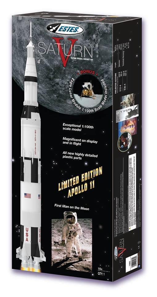 Saturn V Model Rocket Kit w/Bonus (Skill Level 4) #EST1969