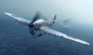 Hawker Sea Hurricane Mk IIc British Fighter #FYM32014