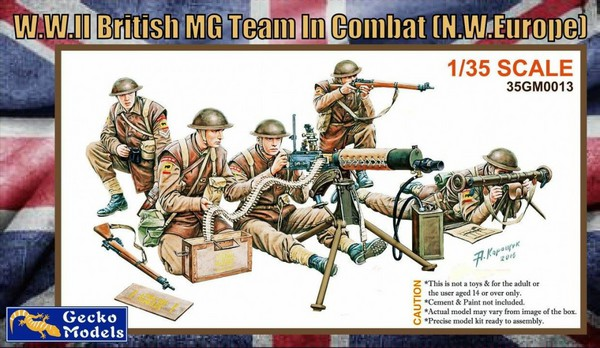 WWII British MG Team in Combat NW Europe (5) - Pre-Order Item #GKO35013