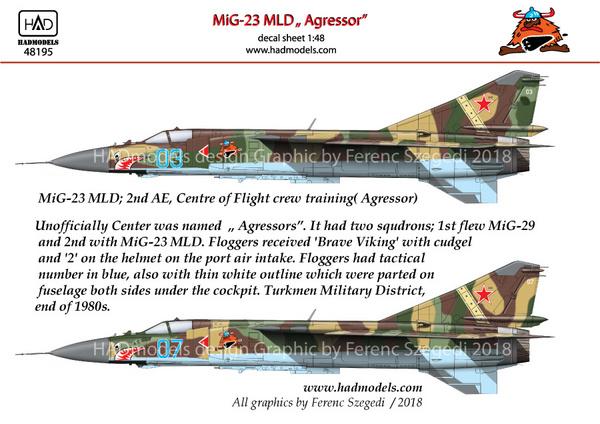 Mikoyan MiG-23MLD 'Aggressor' #HUN48195