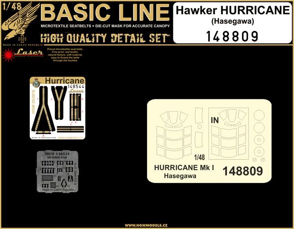 Hawker Hurricane Mk.I/Mk.II BASIC LINE: seatbelts + masks #HGW148809